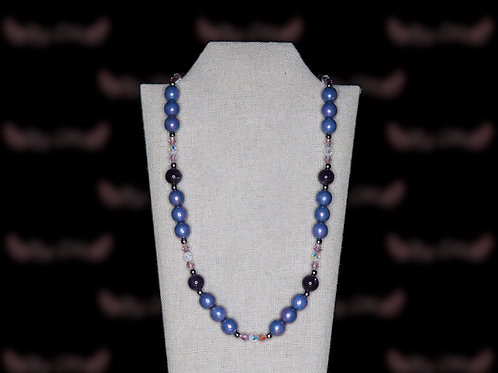 Opaque Light Blue Necklace
