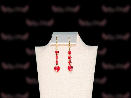 Red Hearts Earings