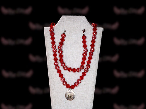 Cardinal Red Star Czech Crystal Set