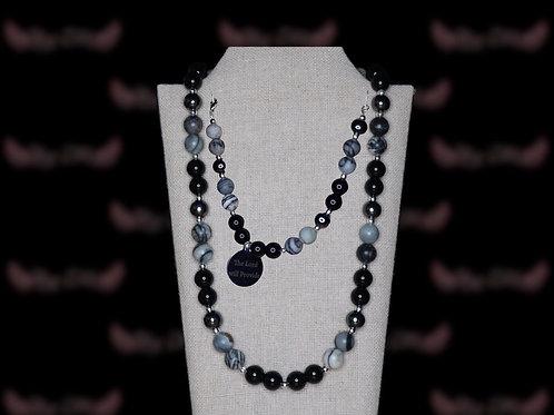 Black Obsidian Silk Stone  Set