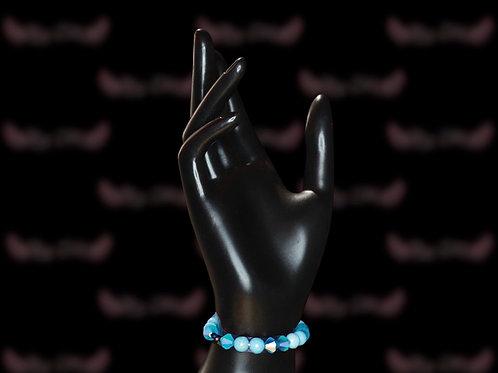 Teal Blue Czech Crystal Bracelet
