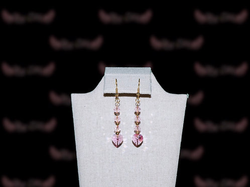 Pink Hearts Earings