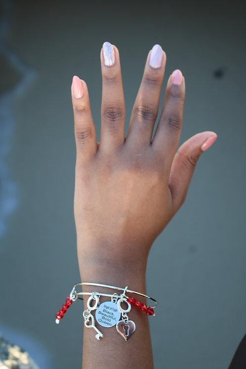 Lock & Key Bangle Bracelet