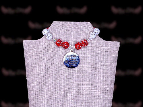 Red White Starred Czech Crystal Braclet