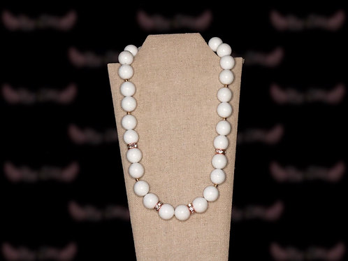 White Marble Royalty Necklace