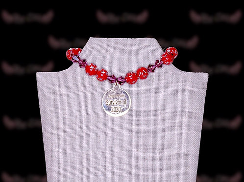 Cardinal Red Star Amythest Bicone Bracelet