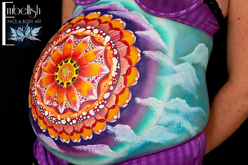 Belly Painting, Pregnancy Art, Prenatal Body Painting, Bump Art
