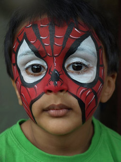 Spiderman+Face+Painting