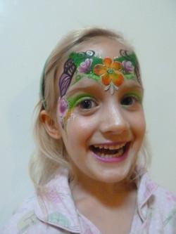 Spring Flower Design Face Paint