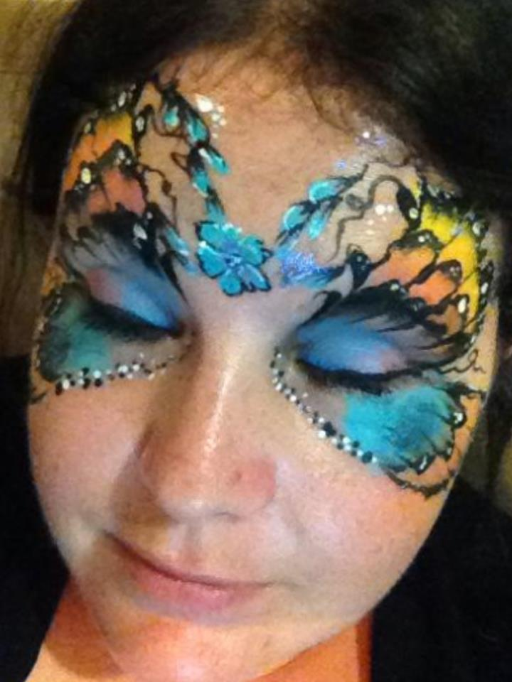 Butterfly Eye Face Painting