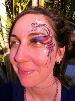 Abstract Eye Design Face Paint