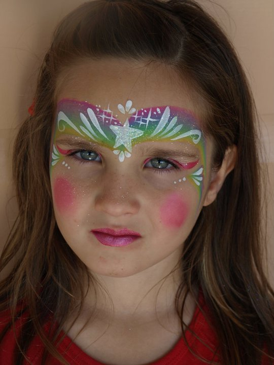 Star Crown Face Painting