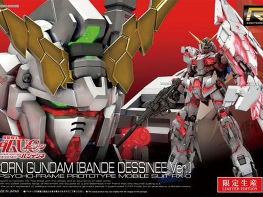 RG 1/144 Unicorn (Bande Dessinée Ver.) - Box Art + Release Info