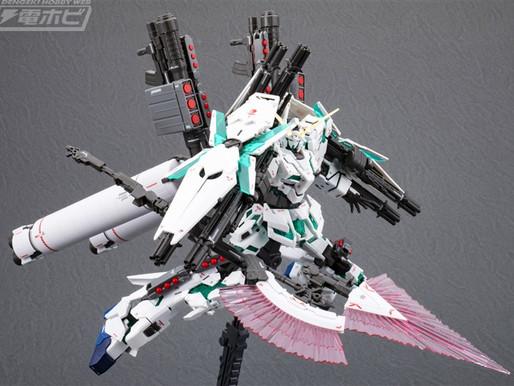 RG 1/144 Unicorn FullArmor - Sample Images by Dengeki Hobby & Release Info