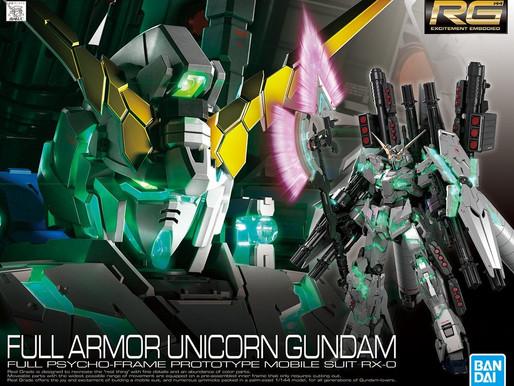 RG 1/144 FullArmor Unicorn - Box Art & Release Info