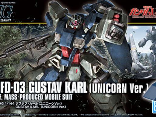 HGUC 1/144 Gustav Karl (Unicorn Ver.) - Box Art & Release Info