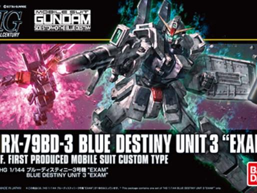 HGUC 1/144 Blue Destiny Unit 3 - Release Info