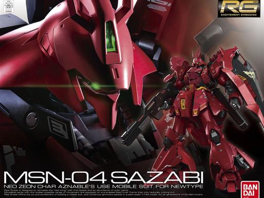 RG 1/144 Sazabi - Release Info + Box Art