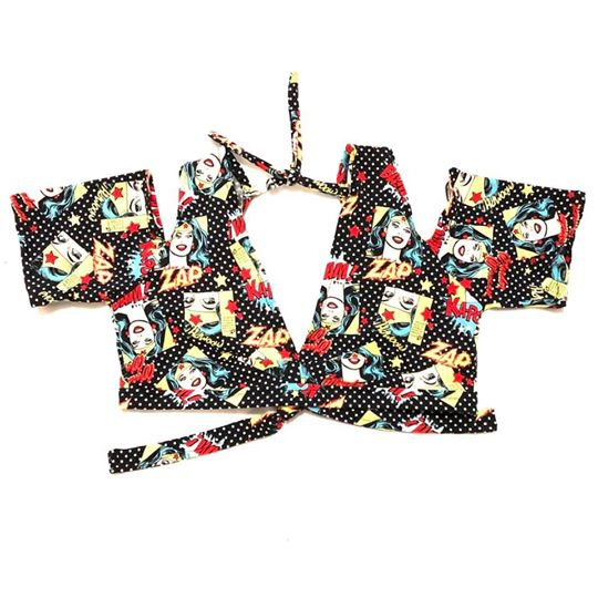 Wonder Woman Print Drop Shoulder Choli - Size M - DSC800