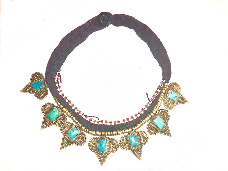 Kuchi Necklace with Small Medallions - TKN203