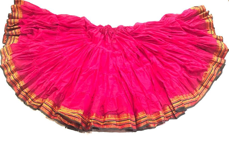 25 Yard Saree Sari Skirt - Fuchsia - TSCS13