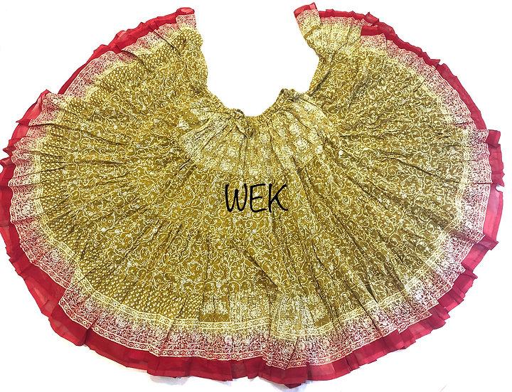 25 Yard Special Saree Sari Skirt - Mustard - TSCS704