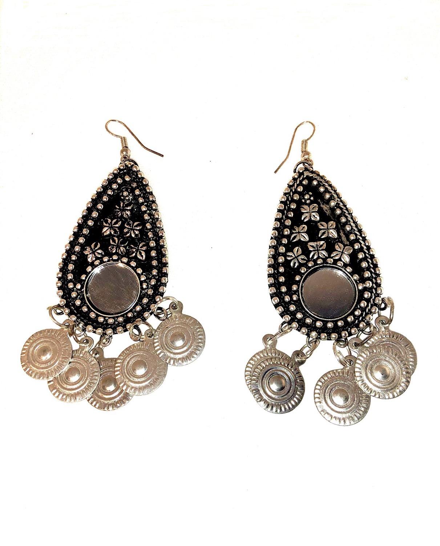 Mirror Earrings with Dangles - EAR100