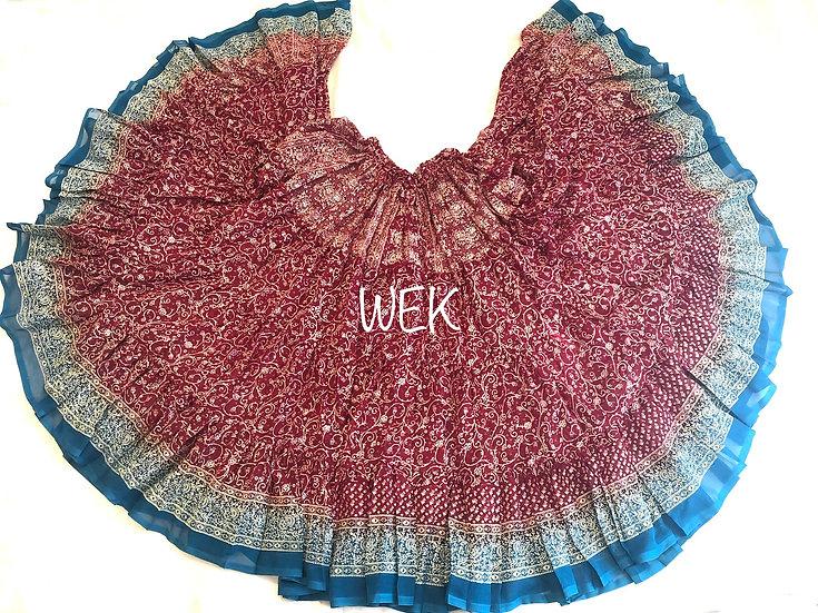 25 Yard Special Saree Sari Skirt - Red - TSCS705