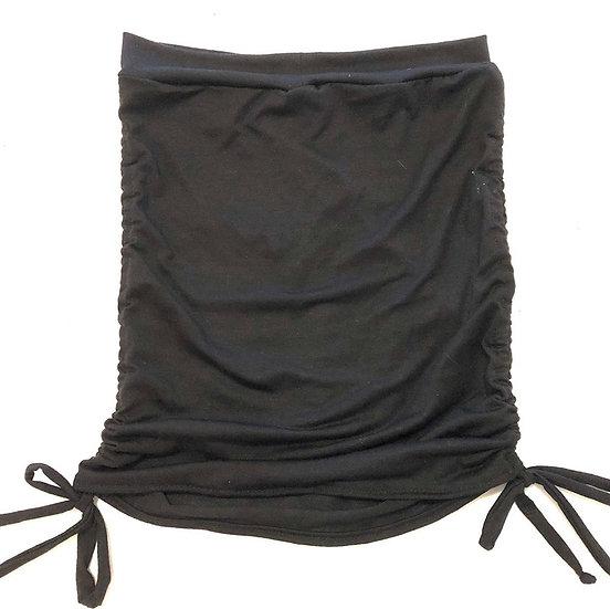 Ruched Mini Skirt - Black - L - RMNS201