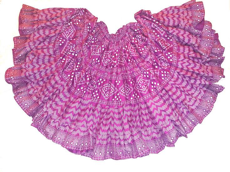 Fuchsia Faux Assuit Print Skirt - 25 Yards - TSFA103