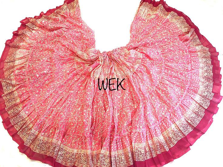 25 Yard Special Saree Sari Skirt - Pink - TSCS709