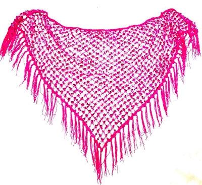 Fuchsia Sequins Crochet Net Scarf - SCFC7