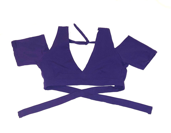 Purple Drop Shoulder Cotton Choli - Size S - DSC500