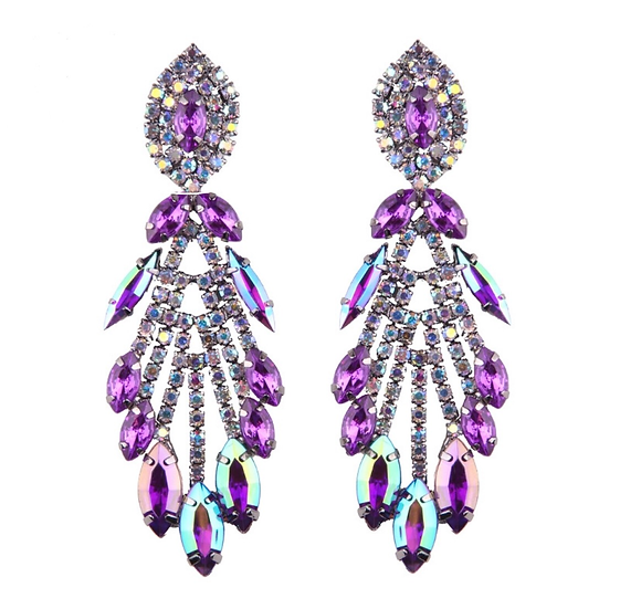 Costume Earrings with Crystals - EAR207