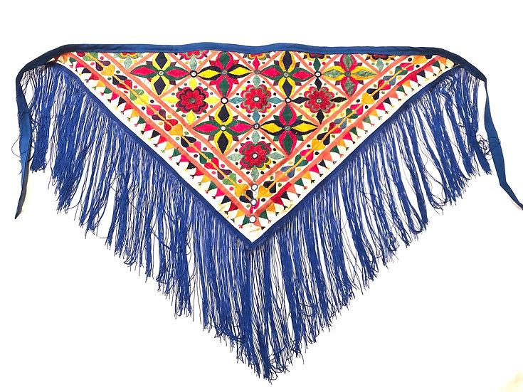 Embroidery Fringe Scarf - EFS101