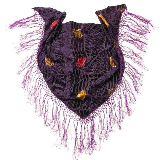 Purple Burnout Fringe Scarf - BOFC78