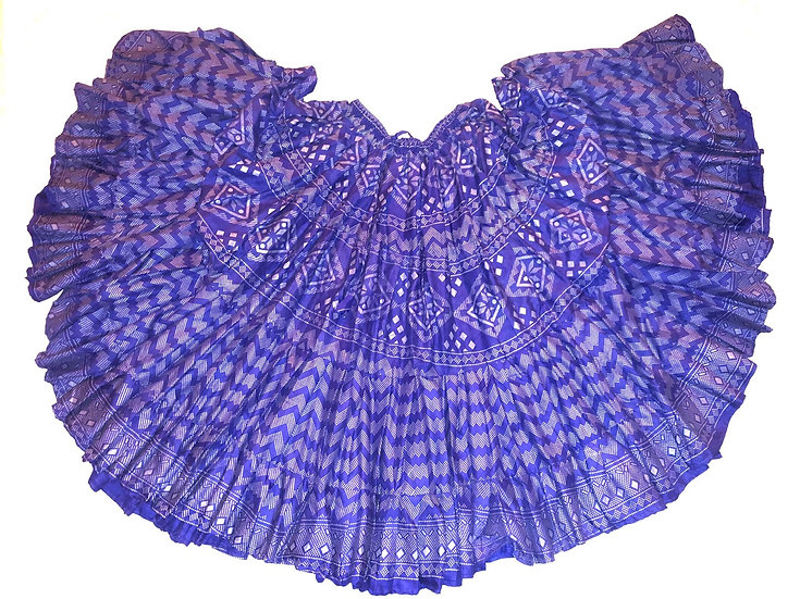 Blue Faux Assuit Print Skirt - 25 Yards - TSFA101