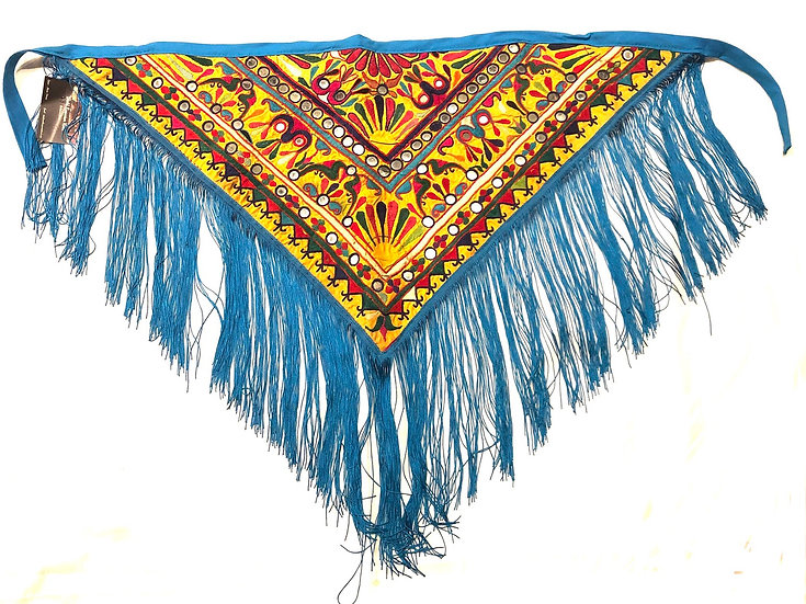 Embroidery Fringe Scarf - EFS100