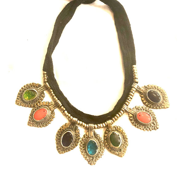 Kuchi Necklace with Small Medallions - TKN202