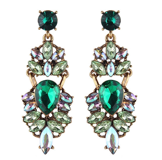 Costume Earrings with Crystals - EAR203