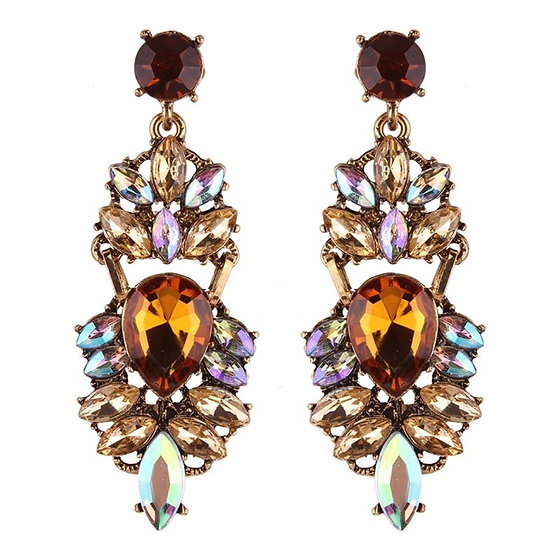 Costume Earrings with Crystals - EAR201