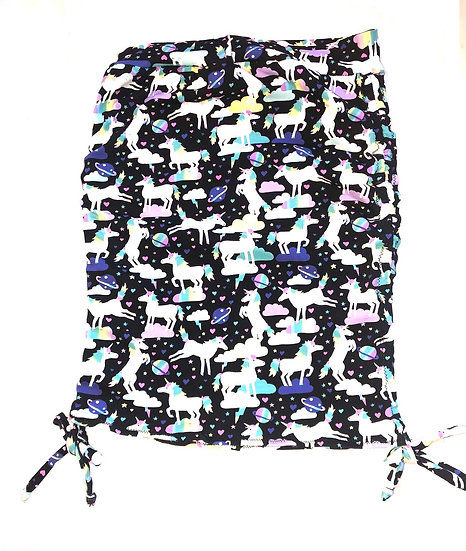 Ruched Mini Skirt - Unicorn Print - M - RMNS901