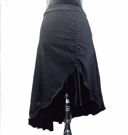 Asymmetrical Ruched Skirt - L - AMNS1001
