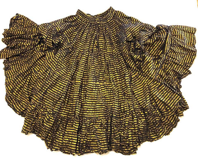Black and Gold Lurex Skirt - 25 yards - TS5001