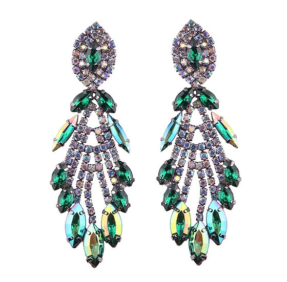 Costume Earrings with Crystals - EAR206