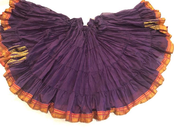 25 Yard Saree Sari Skirt - Purple - TSCS16