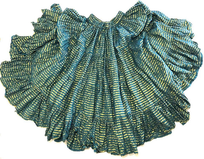 Teal and Gold Lurex Skirt - 25 yards - TS5003
