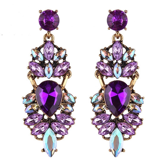 Costume Earrings with Crystals - EAR200