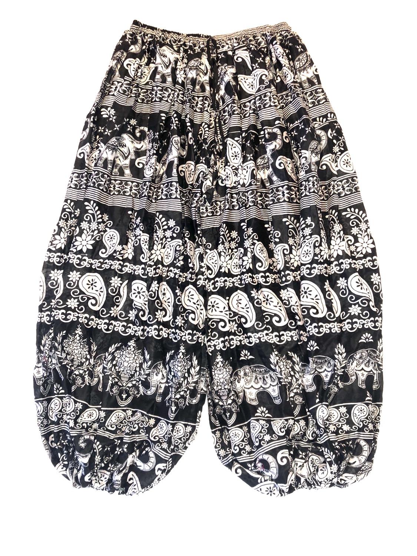 "Cotton Pantaloons - 45"" - Black/White - CPT203"