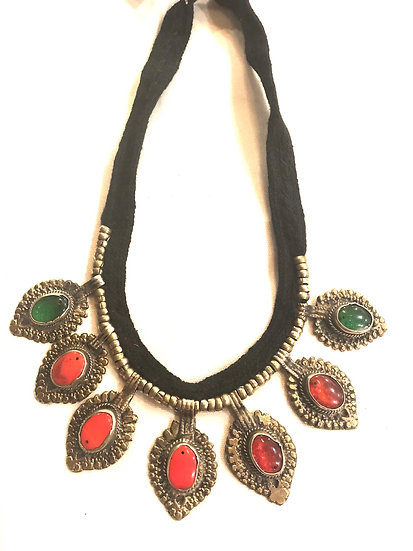 Kuchi Necklace with Small Medallions - TKN201